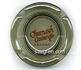 Chumash Casino Resort - Orange imprint Glass Ashtray