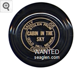 Sally Joe Conforte, Stolen From Cabin in the Sky, Gold Hill, Nevada - Tan imprint Glass Ashtray