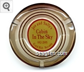 Joe and Sally's, Cabin in the Sky, 882-2895, Gold Hill, Nevada - Red on yellow imprint Glass Ashtray
