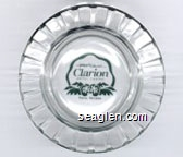 Reno's Newest Clarion Hotel Casino, Reno, Nevada - Green imprint Glass Ashtray