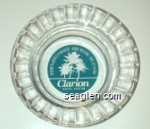 Every Player's Paradise, Reno, Nevada, 800-723-6500, Clarion Hotel Casino - Blue imprint Glass Ashtray