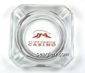 Cliff Castle Casino - Red imprint Glass Ashtray