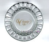 Del Webb's Claridge Hotel & HI-HO Casino - Yellow imprint Glass Ashtray