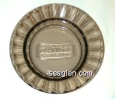 Del Webb's Claridge Casino Hotel - Molded imprint Glass Ashtray