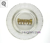 Comstock Casino, Carson City - Nevada - Yellow and black imprint Glass Ashtray