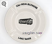 Cal-Neva Biltmore, Lake Tahoe - Black imprint Porcelain Ashtray