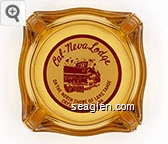 Cal-Neva Lodge, On the North Shore of Lake Tahoe, Crystal Bay, Nevada - Red on white imprint Glass Ashtray