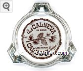 Club Cal-Neva in Reno, At Lake Tahoe Cal-Neva Lodge - Brown on white imprint Glass Ashtray
