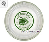 Cal-Neva-Lodge, On The North Shore of Lake Tahoe, Crystal Bay, Nevada - Green on white imprint Glass Ashtray