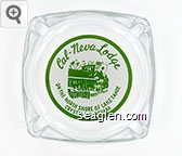 Cal-Neva Lodge, On the North Shore of Lake Tahoe, Crystal Bay, Nevada - Green on white imprint Glass Ashtray