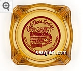 Cal-Neva Lodge, North Side of Lake Tahoe, Crystal Bay, Nevada - Red on white imprint Glass Ashtray