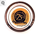 Cal Neva Resort 75th Anniversary 1926 2001 - Black on gold imprint Glass Ashtray