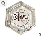Frank Sinatra's Cal-Neva Lodge - Red and brown on white imprint Glass Ashtray