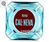 Reno, Cal-Neva - White on red imprint Glass Ashtray