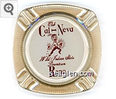Club Cal-Neva, Wild Indian Slots, Downtown Reno - Red on white imprint Glass Ashtray