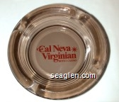 Club Cal Neva, Virginian, Hotel Casino - Red on white imprint Glass Ashtray