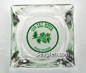 Club Cal-Neva, Reno, Nevada - Green on white imprint Glass Ashtray