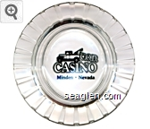 C.O.D. Casino, Minden - Nevada - Black imprint Glass Ashtray