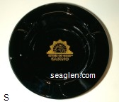 Cities of Gold Casino - Gold imprint Glass Ashtray