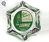 Relax, Pardner! . . . Enjoy the Friendly Atmosphere of The Lounge, Commercial Hotel, Elko, Nevada - White on green imprint Glass Ashtray