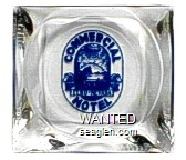 Commercial Hotel, Elko - Nevada - Blue imprint Glass Ashtray