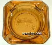 Comstock Hotel, Casino, Downtown Reno - Molded imprint Glass Ashtray