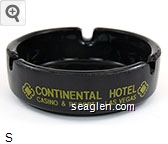 Continental Hotel, Casino & Resort - Las Vegas - Yellow imprint Glass Ashtray