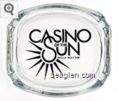 Casino of the Sun, Pascua Yaqui Tribe - Black imprint Glass Ashtray