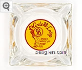 Circle RB Lodge, Reno's House of Prime Rib - Red on yellow imprint Glass Ashtray