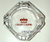 Crown Casino - Red imprint Glass Ashtray
