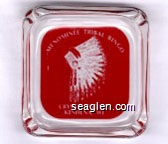 Menominee Tribal Bingo, Crystal Palace, Keshena, WI - Red imprint Glass Ashtray