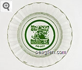 The Christmas Tree, On the Mount Rose Highway, 849-0127 - Green imprint Glass Ashtray