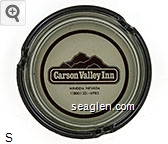 Carson Valley Inn, Minden, Nevada, 1 (800) 321-6983 - Maroon imprint Glass Ashtray
