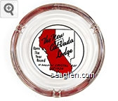 The New Cal-Vada Lodge, Open The Year Round at beautiful Crystal Bay Nevada - Black and red imprint Glass Ashtray
