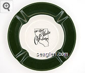 The New Cal-Vada Lodge - Green on white imprint Porcelain Ashtray