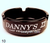 Danny's II Las Vegas, Where Am I, Where's My Car? - White imprint Glass Ashtray