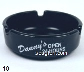 Danny's Open 24 Hours, Cocktails Good Food, Desert Inn at Boulder Hwy Las Vegas - White imprint Glass Ashtray