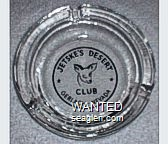 Jetske's Desert Club, Gerlach - Nevada - Black imprint Glass Ashtray
