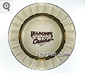 Diamond's Casino - Red imprint Glass Ashtray