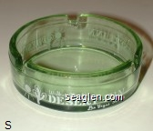 Wilbur Clark's Desert Inn, Las Vegas, Nevada - White imprint Glass Ashtray