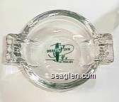 Desert Inn, Las Vegas, Nev. - Green imprint Glass Ashtray