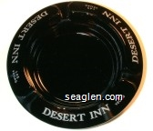 Desert Inn, Las Vegas - White imprint Glass Ashtray