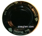 Desert Inn and Country Club - Green imprint Glass Ashtray