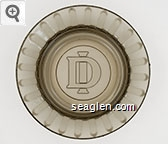 DI - Molded imprint Glass Ashtray
