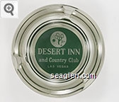 Desert Inn and Country Club, Las Vegas - White and green imprint Glass Ashtray
