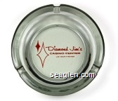 Diamond Jim's, Casino Center, Las Vegas - Nevada - Red imprint Glass Ashtray