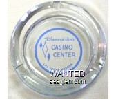 Diamond Jim's, Casino Center, Las Vegas, Nevada - Blue on white imprint Glass Ashtray