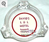 David's L & L Motel, Tonopah, Nevada - Red on white imprint Glass Ashtray