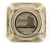 1000 Deluxe Rooms, Dunes Las Vegas, Diamond of the Dunes - Brown on white imprint Glass Ashtray