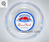 Dome of the Sea, Dunes Hotel, Las Vegas, Nev. - Blue and red on white imprint Glass Ashtray